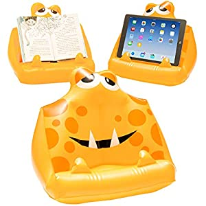 Gifts for Readers & Writers BookMonster Gonfiabile ad Aria Supporto per Libro Leggio per Bambini Supporto per iPad Tablet eReader Regalo - Sammy 3 spesavip