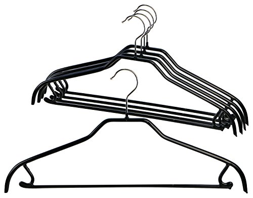 Mawa by Reston Lloyd Silhouette Series Non-Slip Space Saving Clothes Hanger with Bar & Hook for Pants and Skirts, Style 41/FRS, Set of 5, (Lloyd In Space Halloween)