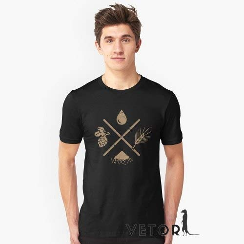 Camisa Camiseta Masculino Blusa Ingredientes Cerveja Caseira Tamanho:M;Cor:Branco