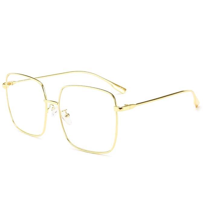 88e26cf03468 AMZTM Gafas de Sol Moda para Mujer Polarizadas Lente de Protección UV  Grande Gafas con Marco