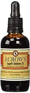 J.Crow's Lugol's Iodine Solution, 2 oz, Twin Pack (2 Bot.)
