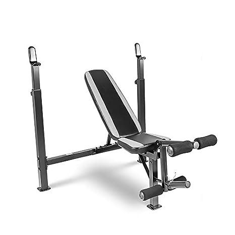 Multiusos olímpico Fitness pesas banco de entrenamiento, negro con eBook: Amazon.es: Deportes y aire libre