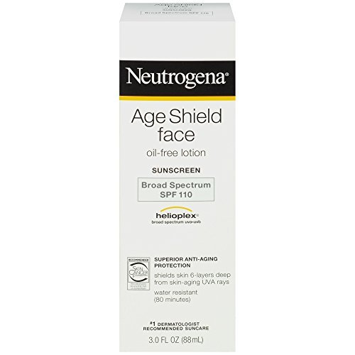 (Neutrogena Age Shield Face Oil-Free Lotion Sunscreen Broad Spectrum SPF 110, ... - Buy Packs and SAVE (Pack of 2))