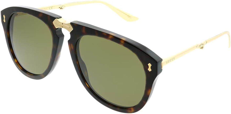 2e1ca577553 Amazon.com  Sunglasses Gucci GG 0305 S- 002 HAVANA BROWN GOLD  Clothing