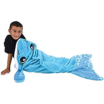 Amazoncom Blankie Tails The Original Shark Blanket For Kids From
