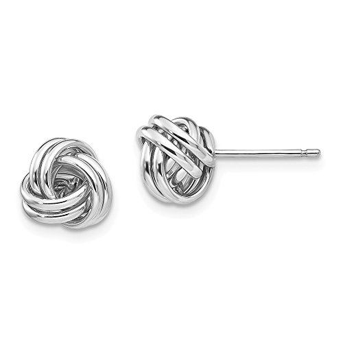 14k White Gold Post Stud Earrings Fine Jewelry Gifts For Women For Her