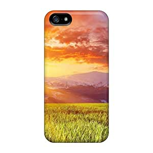 Defender Case With Nice Appearance (mountains Between Grass Field Sunset) For Iphone 5/5s