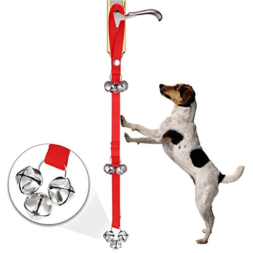 Training Bells, Adjustable Door Bells,Premium Quality Training Potty Dog Bells Loud & Crisp Doggy DoorBells for House Training Potty (Red) Review