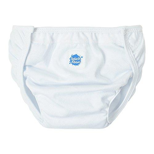 - Happy Nappy Splash About Cotton Nappy Wrap, Medium/Large, White