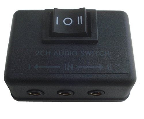 Audio AB A/B switch stereo 2CH two way selector 3.5mm (1/8