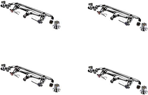 Krowne 12-812L 8 Faucet Commercial Wall Mount with 12 Spout, Centers 14112 Pack of 4