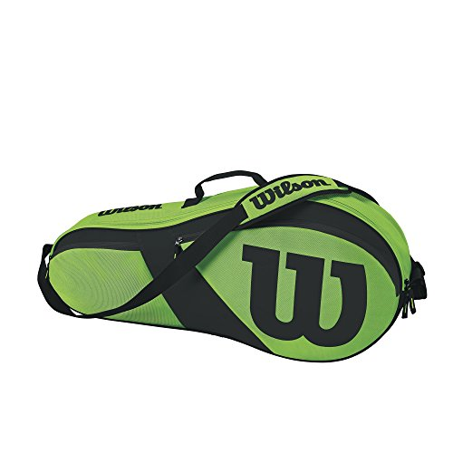 Wilson Match III 3 Pack Tennis Bag, Green/Black (Wilson Green)