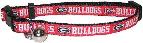 Pets First Collegiate Pet Accessories, Cat Collar, Georgia Bulldogs, One Size (American Bulldog Dog Shoes)