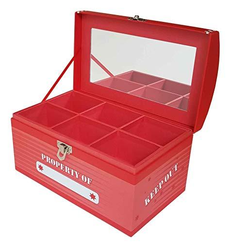 (Treasure Chest Box Jumbo - Laser Red)
