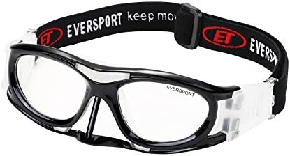 59892af3d3 EVERSPORT Protective Sports Goggles Safety Basketball Glasses Eyewear for  Adults with Adjustable Strap for Basketball Football Volleyball Hockey  Rugby1601