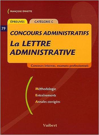 Livres gratuits en ligne La lettre administrative : Catégorie C pdf, epub