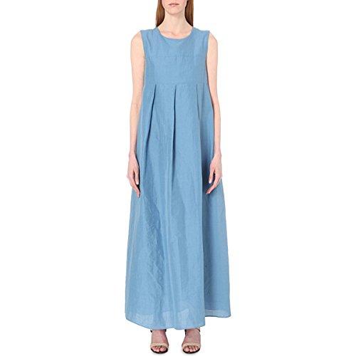 s-max-mara-womens-tullia-cotton-poplin-maxi-dress-6-avio-blue
