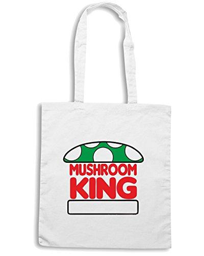 T-Shirtshock - Bolsa para la compra TGAM0053 Mushroom King Blanco