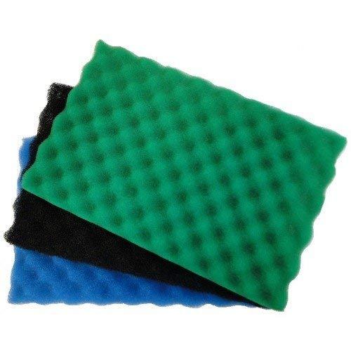 Garden Fish Pond Spare Replacement Filter Foam Sponge Set x3 Fine Medium Coarse (17 x 11 )