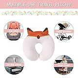 U-Shape Soft Plush Kids Fox Travel Neck Pillow