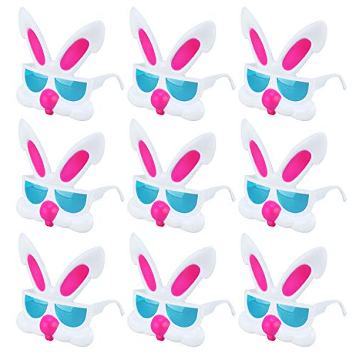Easter Bunny Rabbit Costume Glasses Easter Gifts Party Favors Supplies/Easter Bunny Ears Props for Kids Girls Boys,9 -