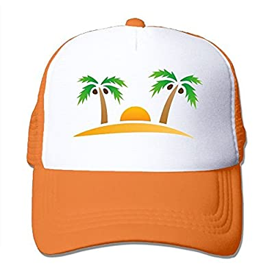 Tropical Tree Pattern Baseball Cap Adjustable Snapback Custom Mesh Trucker Hat from Swesa
