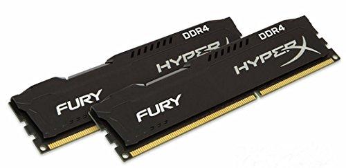 Kingston Hyperx Pc Memory (HyperX FURY Black 16GB Kit (2x8GB) 2133MHz DDR4 Non-ECC CL14 DIMM Desktop Memory (HX421C14FBK2/16))
