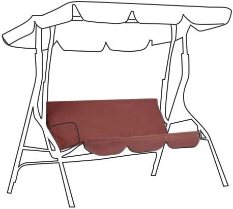 DYHQQ Tettuccio di Ricambio per Sedile da Altalena 2 e 3 posti Taglie coprisedia Top Giardino Esterno,Beige,142x120cm