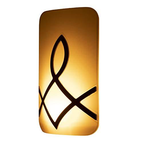 GE Enbrighten SleepLite LED Amber Night Light, Hi/Low Dimmable, Dusk-to-Dawn, Melatonin, Natural Sleep Aid, Ideal for Bedroom, Nursery, Bathroom, 43876, 1 Pack, Oil-Rubbed Bronze | Candle Glow