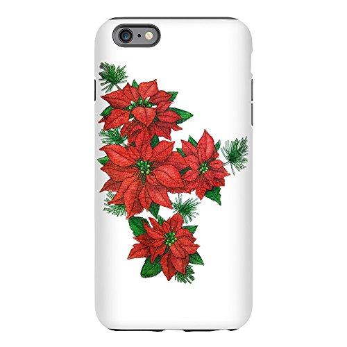 iPhone 6 Plus Tough Case Christmas Poinsettias