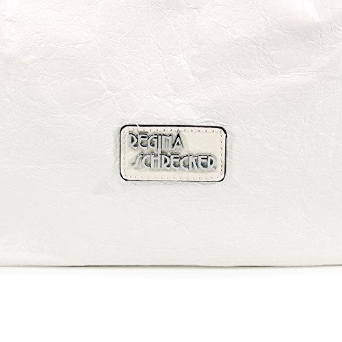 Base Similpelle Centimetri Tracolla Centimetri Schrecker 30cm 13 Larghezza Per Donne Le Bianco Regina 39 Altezza 0q0rnOz