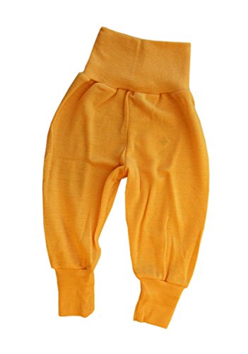 Engel 100% Organic Merino Virgin Wool Baby Pants Machine Washable (74/80 (6-12 mo), Yellow)