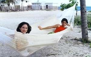macamex mA de 00340Hamaca, México Red Familia de hamaca hamaca xxl 4personas, 300kg, 410x 300x 150cm, natural