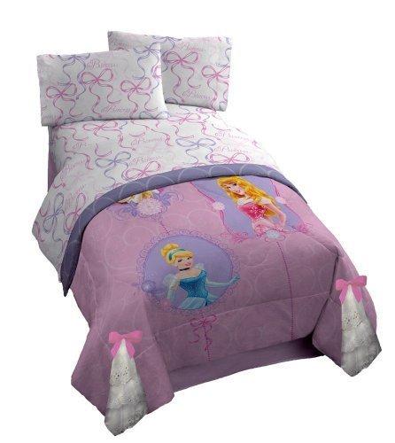 Disney Princess 'Timeless' Full Size Sheet Set with (Disney Princess Full Comforter)