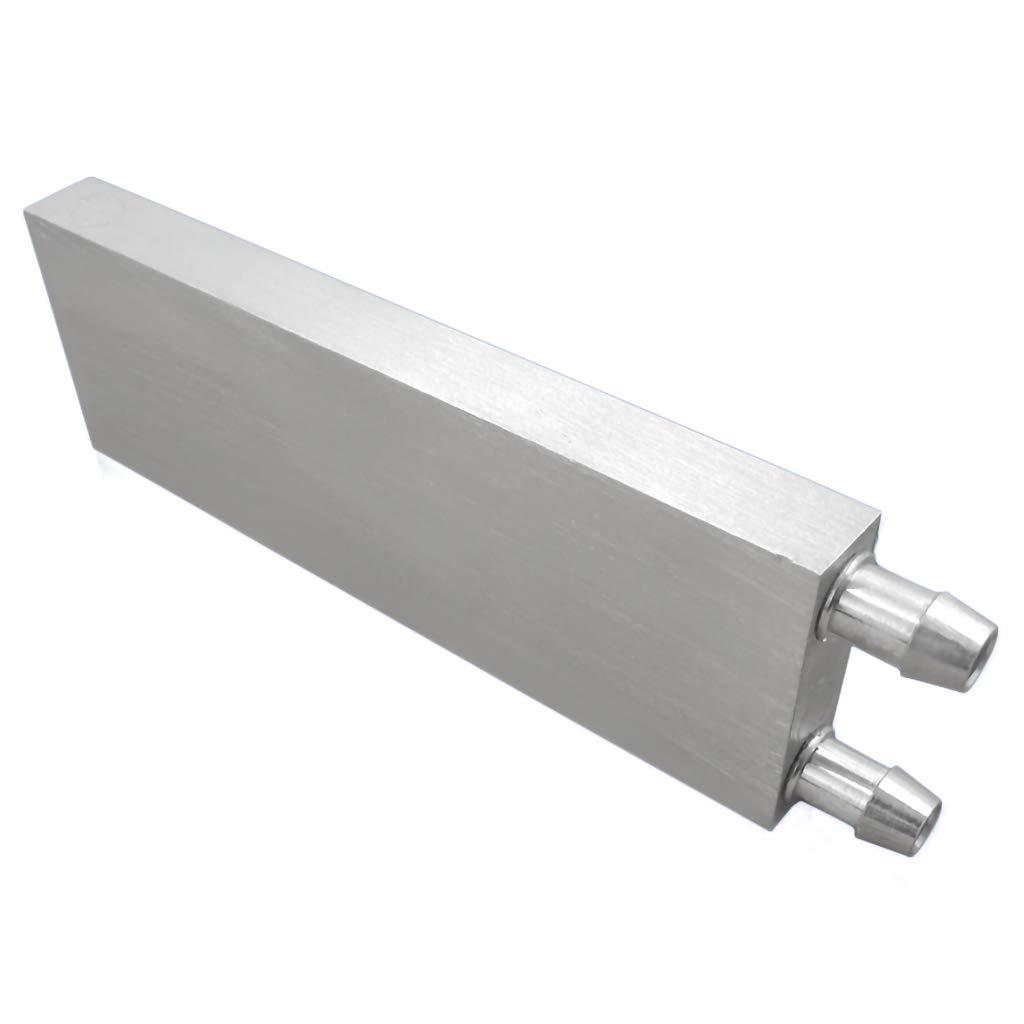 GKanMore Water Cooling Block Aluminum Waterbolck Cooler for CPU Graphics Radiator North Bridge Heatsink, 120x40x12MM
