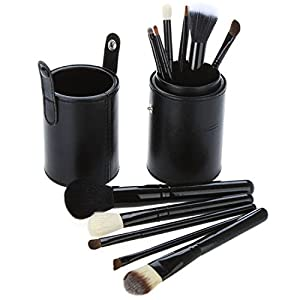Daixers 12pcs Professional Portable makeup brushes make up brushes Set Cosmetic Brushes Kit Makeup Tools with Cup holder Case 4 colors