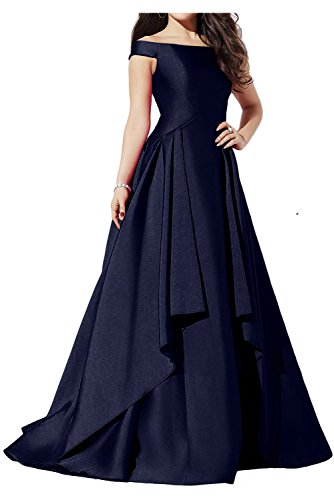 Neu Partykleid Ivydressing Abendkleider Lang Navy Neu Ballkleider Satin Glamour 5SSwx6Bf