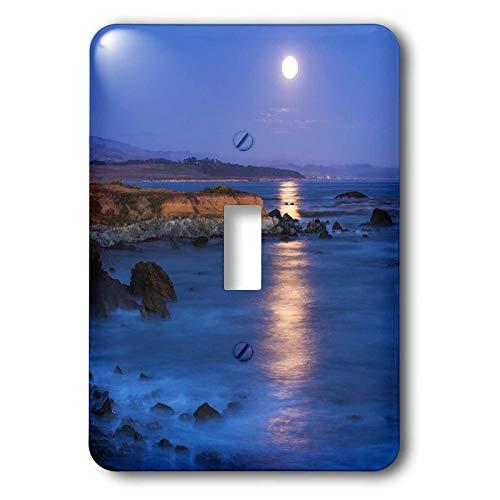 3dRose Danita Delimont - California - Full moon rising over Piedras Blancas, San Simeon, California, USA - 2 plug outlet cover ()