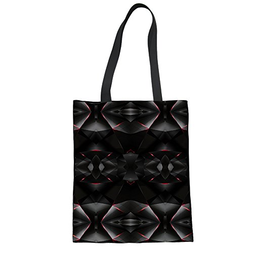 Shopper CHAQLIN black for Bag Canvas Shopping Women Tote Groceries Storage Girls Womens Shoulder P7wYqUxOxn