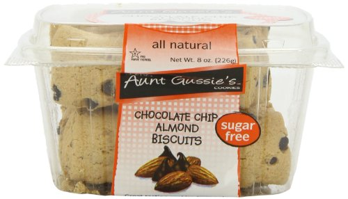 Aunt Gussie's Sugar Free Chocolate Chip Almond Biscuit, 8-Ounce Tubs (Pack of - Chip Chocolate Biscotti