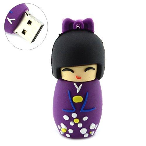 Price comparison product image Cute Japanese Doll Design 8GB USB Flash Drive (Purple)