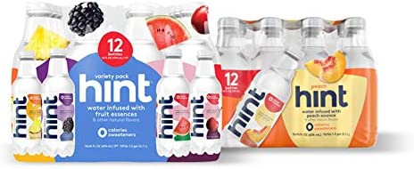 16oz Hint Water (Pack of 24) - 3 Bottles Each of