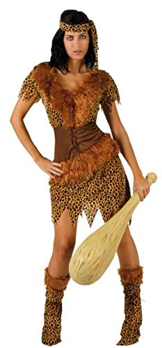 Ladies Sexy 4 Piece Cavegirl Cavewoman Caveman Carnival Halloween Fancy Dress Costume Outfit UK 8-18 (UK 12-14 (US 8-10))]()