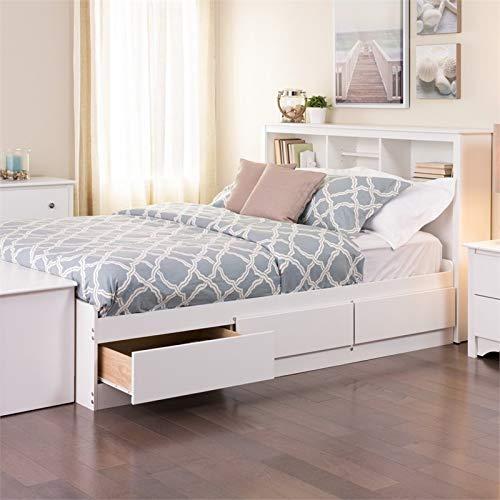 (Prepac Monterey Full Platform Storage Bed in White)