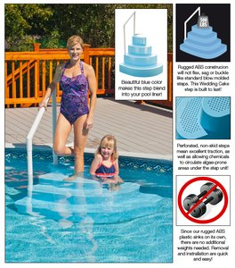wedding cake step for above ground swimming pools