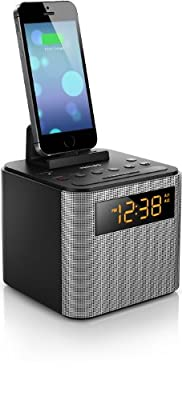 Philips AJT Bluetooth Dual Alarm Clock Radio iPhone/Android Speaker Dock Speakerphone Microphone from Philips