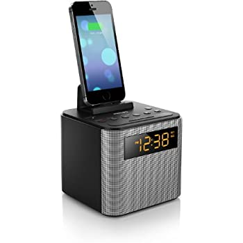 8282c5f1053 Philips AJT3300 37 Bluetooth Dual Alarm Clock Radio iPhone Android Speaker  Dock Speakerphone Microphone