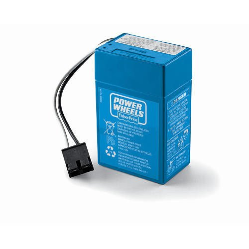 Power Wheels 6V 6 volt BLUE BATTERY 00801-1457 Replaces 0...