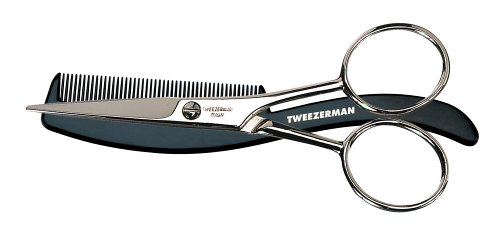 Mens by Tweezerman Moustache Scissors with Comb HealthCentre 7203-h