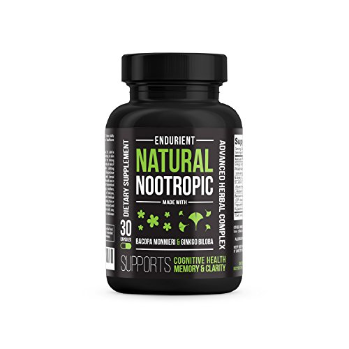 Herbal Nootropics & Brain Function Support - Natural Nootropic Supplement with Ginkgo Biloba, Bacopa Monnieri & St. John's Wort Extract for Brain Fog, Memory & Concentration - LIMITED LAUNCH PRICE!